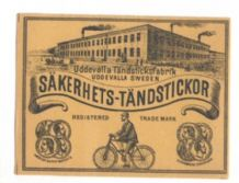 OLD RARE Bicycle cycling large packet match box label